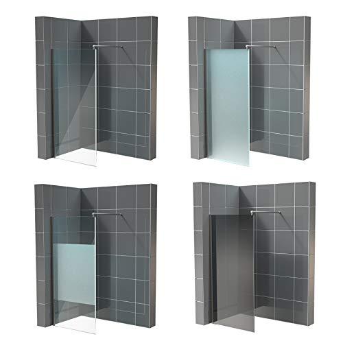 Glaswand Walk in Dusche Nano ESG 10mm in vielen Designs 2000mm x...