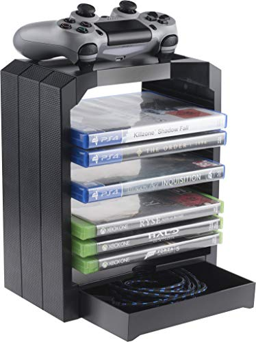 Geekhome - Universal Games Storage Tower for up to 10 games - Xbox...