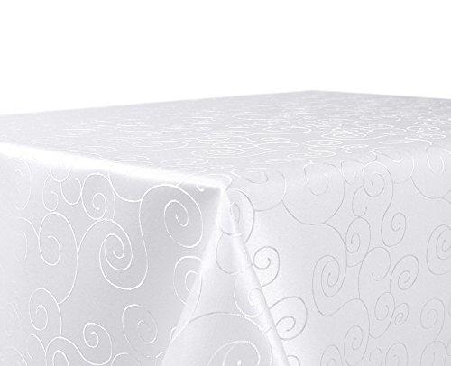 BEAUTEX Tischdecke Damast Ornamente - Bügelfreies Tischtuch -...