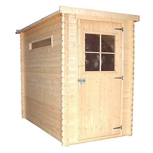 TIMBELA Holzhaus Gartenhaus M306 - Gartenschuppen Holz B144xL239xH198...