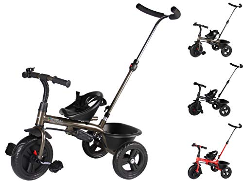 Clamaro 'Buttler Basic' 2in1 Kinder Dreirad ab 1 Jahr mit lenkbarer...