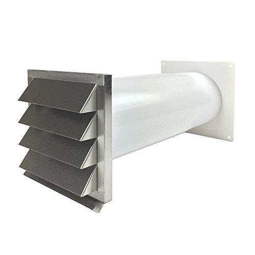 EASYTEC® Energiesparender Mauerkasten Ø 150 mm Edelstahl mit zwei...