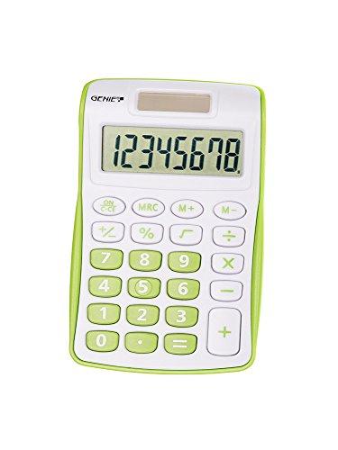 Genie 120 G 8-stelliger Taschenrechner (Dual-Power (Solar und...