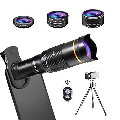 JONGSUN Handy Objektiv Kamera Linse Kit, 4 in 1 Universal 32x Zoom...