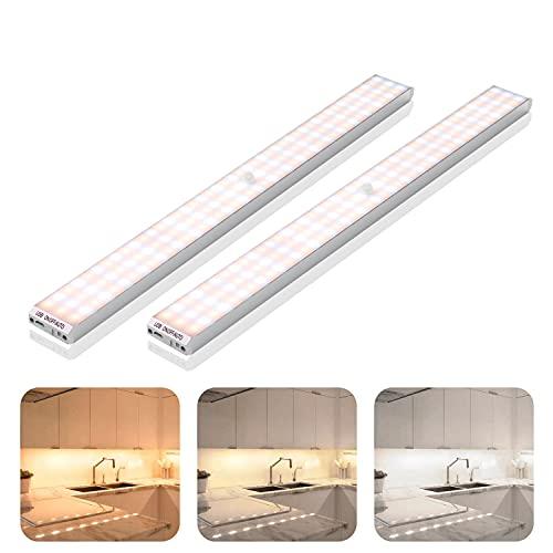 LED Schrankbeleuchtung mit Bewegungsmelder 2 Stück 132 LED Nachtlicht...