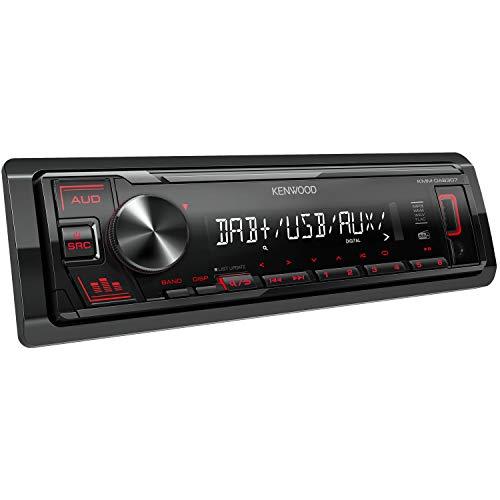 Kenwood KMM-DAB307 - USB-Autoradio mit DAB+/UKW (Soundprozessor, USB,...