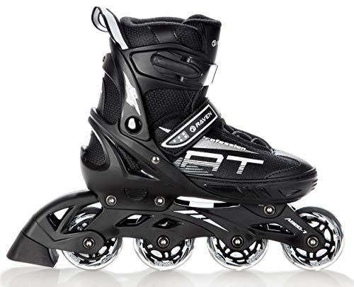 RAVEN Inline Skates Inliner Profession verstellbar (Black,...