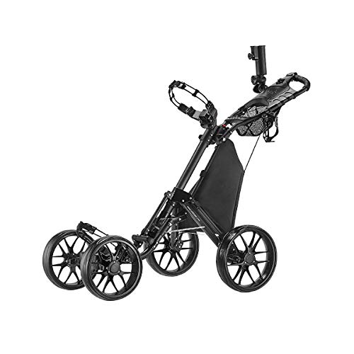 CaddyTek one Klick-klappbar, golf trolleys 4 Rad Golf Push...
