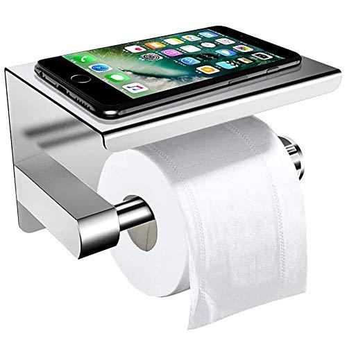 Toilettenpapierhalter Ohne Bohren mit Ablage, ZOTO 3M-Kleber...