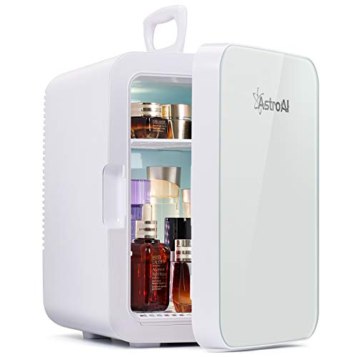 AstroAI Mini Kühlschrank, 10 Liter Fridge mit Kühl/Heizfunktion und...