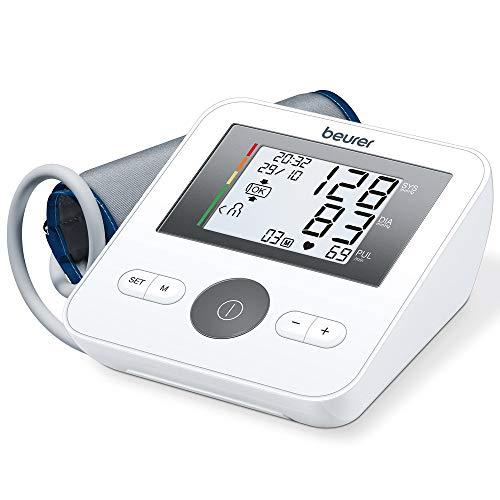 Beurer BM 27 Oberarm-Blutdruckmessgerät mit Manschettensitzkontrolle,...