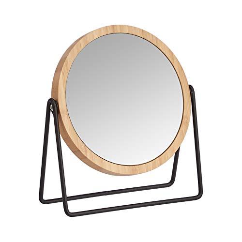 Amazon Basics – Kosmetikspiegel mit Bambus-Umrahmung, Vergrößerung...