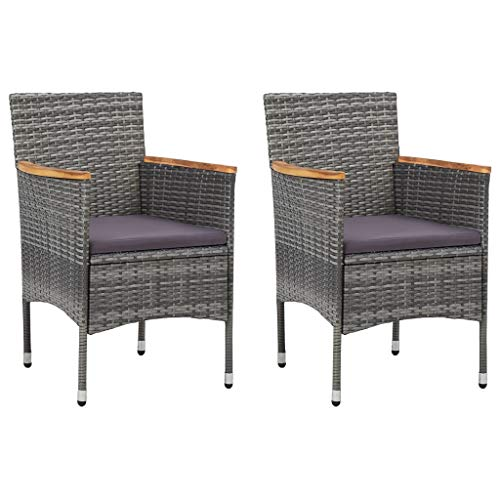 Tidyard Garten-Essstühle 2 STK.Garten-Essgruppe Stuhlset Stühle...