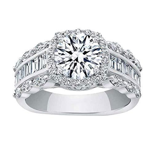 UINGKID Ring Einfach Herrlich großzügig Kreativ Diamant Zirkon...