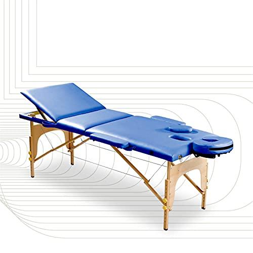 SportPlus Massageliege, Massagebank, Physioliege aus Holz, klappbar,...