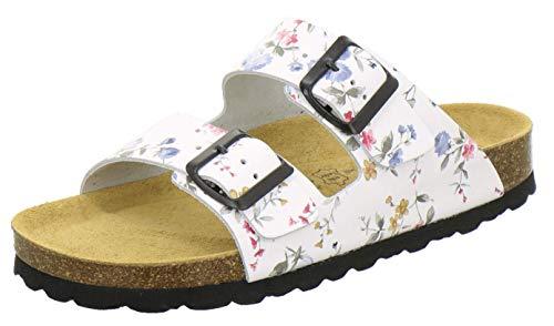 AFS-Schuhe 2100, Bequeme Damen Pantoletten echt Leder, praktische...