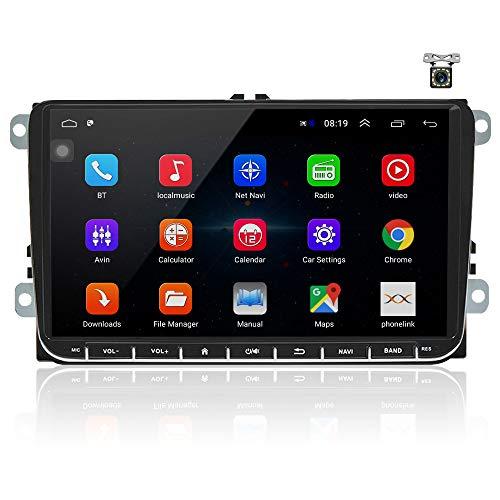 OiLiehu Android Auto Radio Mit Navi FüR Vw 9 Zoll Touchscreen...