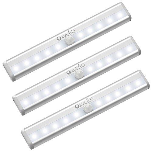 OxyLED LED Schrankbeleuchtung mit Bewegungsmelder,3 Stück LED...