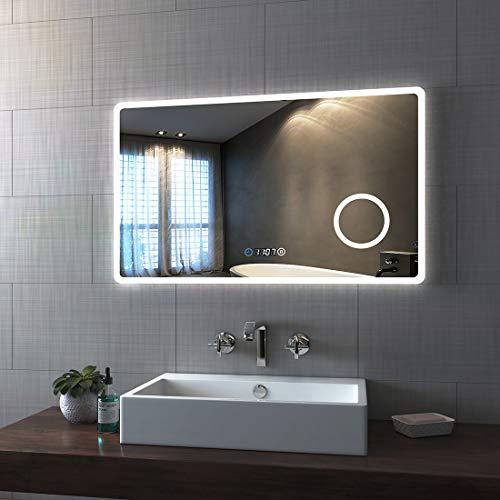Bath-mann LED Badspiegel 100x60cm Badezimmerspiegel mit Beleuchtung 3...