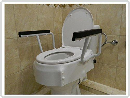 LUXUS Toilettensitzerhöhung / Toilettensitz mit Deckel und mobilen...