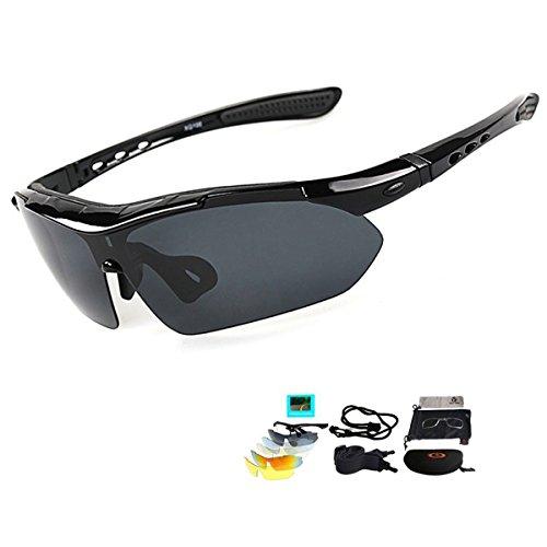 V VILISUN Fahrradbrille Sportbrille Sonnenbrille UV400 5...
