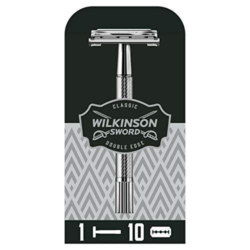 Wilkinson Sword Classic Vintage hochwertiger Rasierhobel inkl. 10...