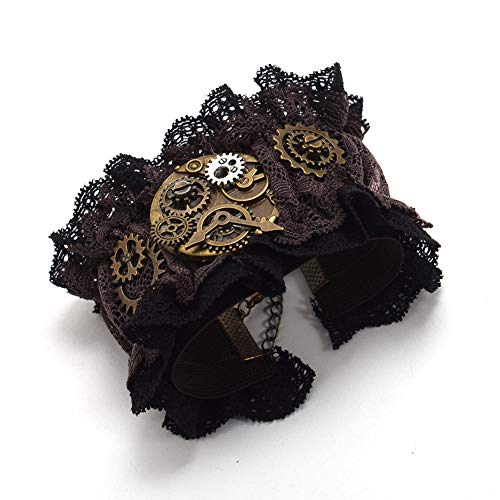 BLESSUME Steampunk Manschetten Gothic Victorian Handstulpe Armbänder...
