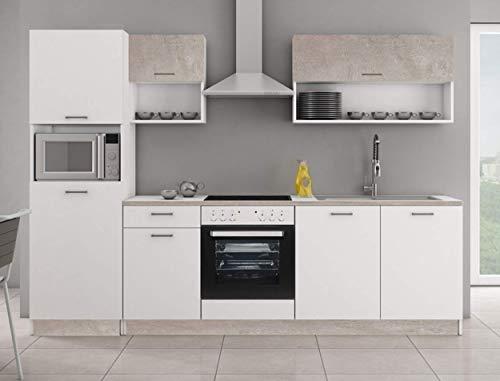 Küche MIKA 270 Küchenzeile Küchenblock Einbauküche Singleküche...