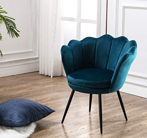 Wahson Sessel für Schlafzimmer Weicher Samt,Armlehnstuhl mit Schwarz...