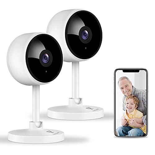 Littlelf Überwachungskamera, 1080P 2 Stück WLAN Kamera, Hundekamera...