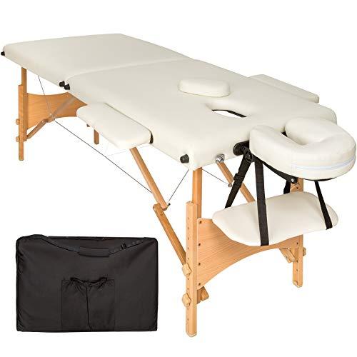 TecTake Mobile Massageliege 2 Zonen höhenverstellbar inkl....