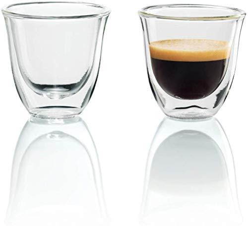De'Longhi isolierte Espresso-Gläser, 2er Set, Thermogläser...