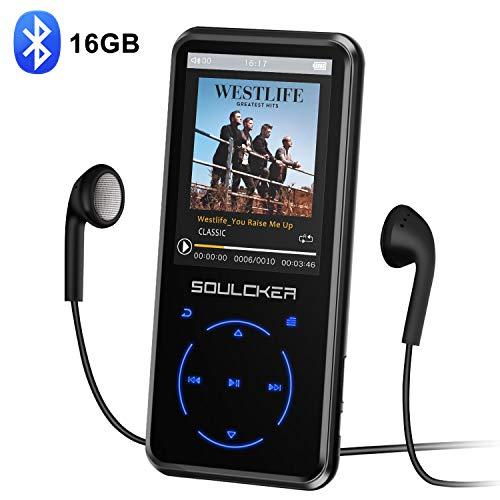 MP3 Player, 16GB Bluetooth MP3 Player mit Kopfhörer, MP3 Player...