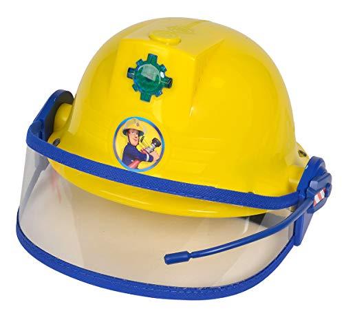 Simba 109252365 - Feuerwehrmann Sam Helm, Feuerwehrhelm mit Funktion,...