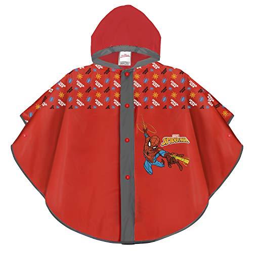 PERLETTI Marvel Spiderman Regencape Rot für Kinder - Spider Man...