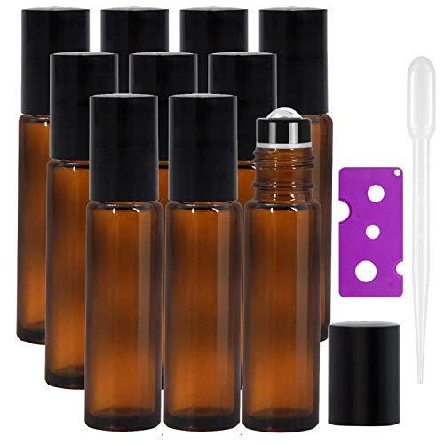 Yalbdopo Roller-Flaschen für ätherische Öle, 10 ml, nachfüllbar,...