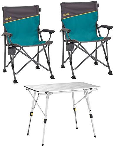 Uquip 'Bloody' Campingmöbel Set 3-TLG. Campinggarnitur mit Falttisch...