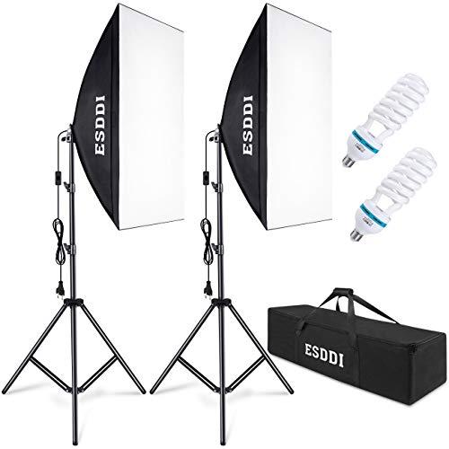 ESDDI Softbox Beleuchtungs Set 2X 50x 70 cm Studioleuchten...