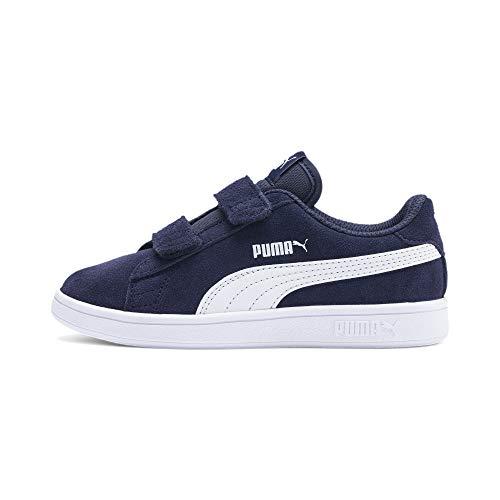 PUMA Unisex Kinder Puma Smash V2 Sd V Ps Sneaker, Blau Peacoat Puma...
