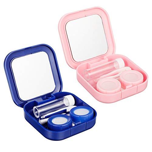 Smilcloud 2er-Pack Kontaktlinsenbehälter Kontaktlinse Kasten...