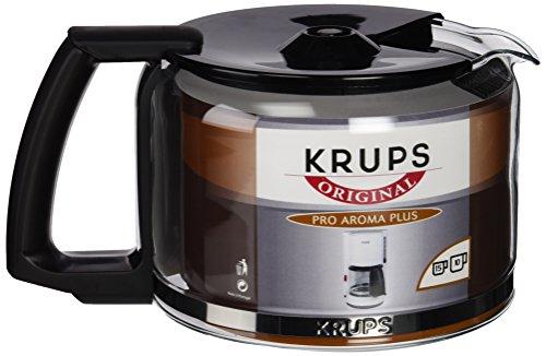 Krups F03442 Glaskrug Espresso-/Kaffeemaschinenzubehör mit Deckel, 10...