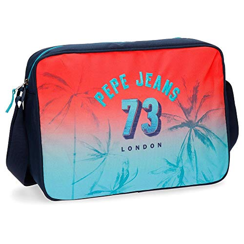Pepe Jeans Dario Laptop-Tasche Rot 28x38x12 cms Polyester 13,3'