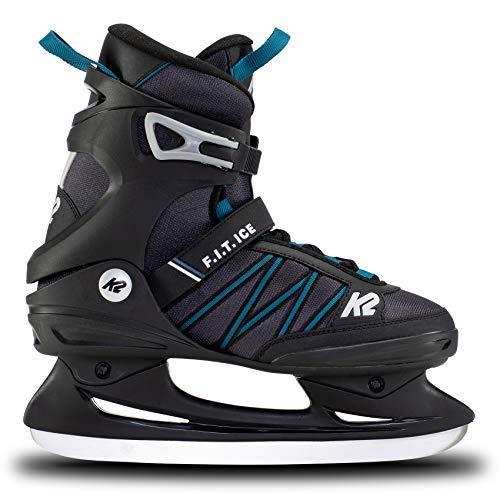 K2 Skates Herren Schlittschuhe F.I.T. Ice — Black - Blue — EU: 45...