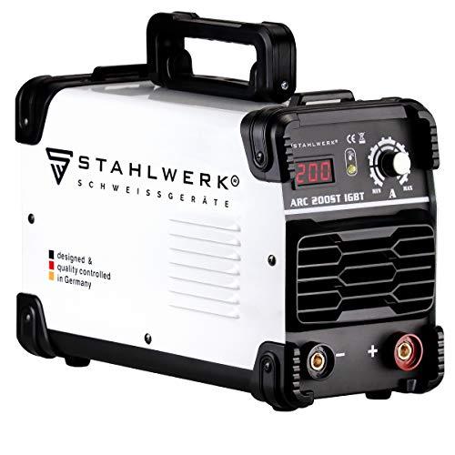 STAHLWERK ARC 200 ST IGBT - Schweißgerät DC MMA/E-Hand Welder mit...