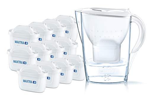 BRITA Wasserfilter Marella weiß inkl. 12 MAXTRA+ Filterkartuschen –...