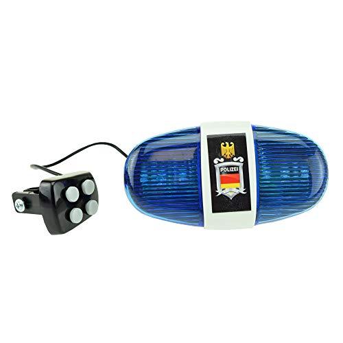Toi-Toys 55008A - Fahrradlampe Polizei, Polizeilicht für Kinder mir...