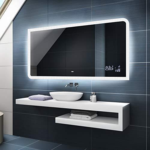 Badspiegel 120x70cm mit LED Beleuchtung - Wählen Sie Zubehör -...