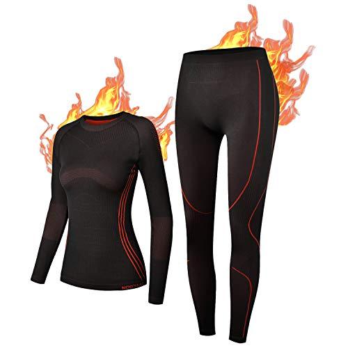 NOOYME Funktionsunterwäsche Damen Thermounterwäsche Damen Warm &...