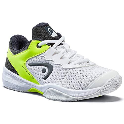 HEAD Unisex-Kinder Sprint 3.0 Junior Tennisschuh, weiß/neon gelb