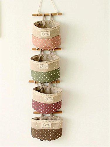 Hängeorganizer,Wand hängenden/CIDBEST® kreativ 4 Tasche Hanging...